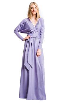 Длинное фиолетовое платье Mondigo