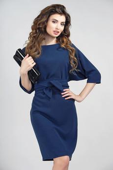 Платье свободного кроя с поясом и рукавами 3/4 Dress-top