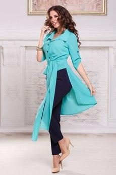 Блузка со шлейфом и короткими рукавами и поясом Angela Ricci