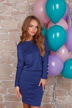 Платье цвета ультрамарин Open-Style