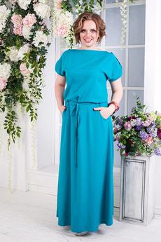 Длинное бирюзовое платье Angela Ricci