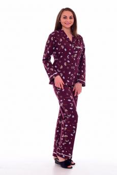Бордовая пижама на пуговицах Новое кимоно