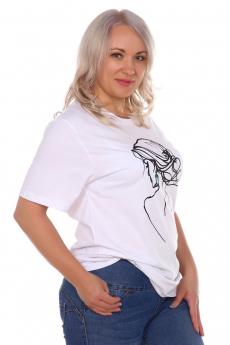Белая футболка с девушкой ElenaTex